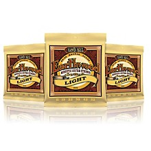Ernie Ball 2004 Earthwood 80/20 Bronze Light Acoustic Guitar Strings - 3 Pack