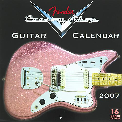 Fender 2007 Custom Shop Guitar Wall Calendar