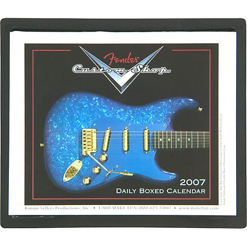 Fender 2007 Custom Shop Page Per Day Calendar