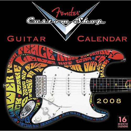 Fender 2008 CUSTOM SHOP WALL CALENDAR