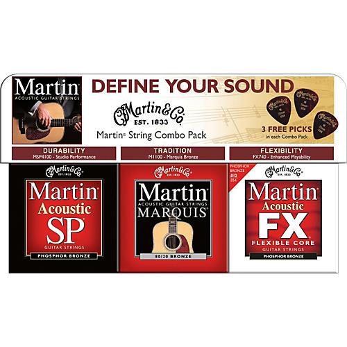 Martin 2009 Combo Sampler 3-Pack with 3 Free Picks