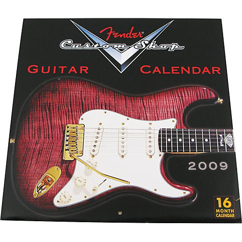 Fender 2009 Custom Shop Wall Calendar