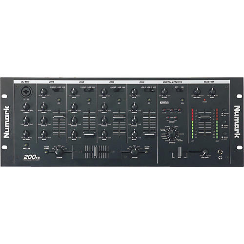 Numark 200FX Rackmount Mixer with Alesis Effects