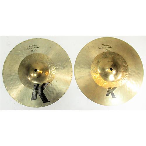 2010s 13.25in K Custom Hybrid Hi Hat Top Cymbal