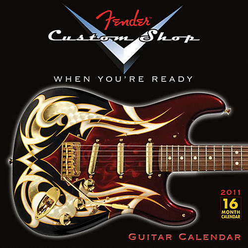 Fender 2011 Custom Shop Wall Calendar