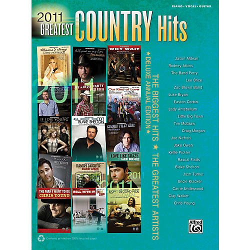 Alfred 2011 Greatest Country Hits Book