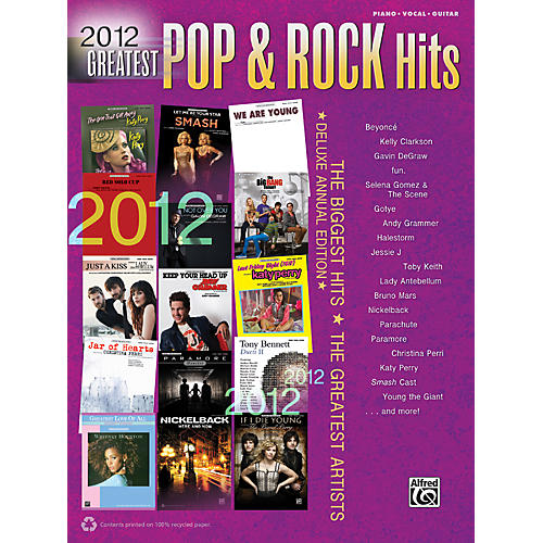Alfred 2012 Greatest Pop & Rock Hits PVC Book