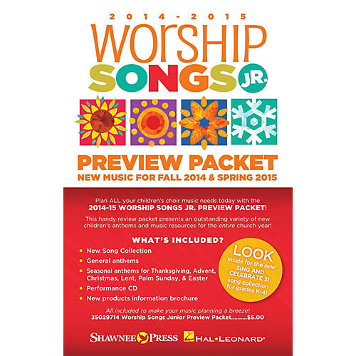 Shawnee Press 2014-15 Worship Songs Junior Preview Packet Resource Kit Composed by Various