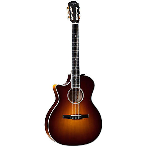 Taylor 2014 614ce-N-L Maple/Spruce Nylon String Grand Auditorium Left-Handed Acoustic-Electric Guitar