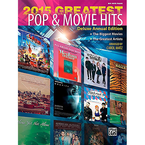 Alfred 2015 Greatest Pop & Movie Hits - Big Note Piano Songbook