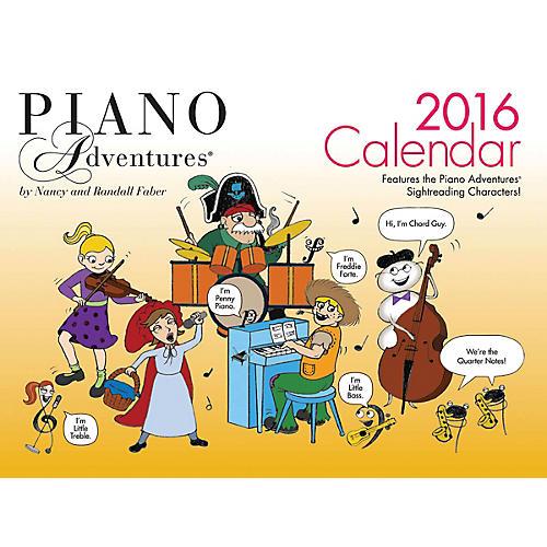 Faber Piano Adventures 2016 Faber Piano Adventures Calendar Faber Piano Adventures® Series Softcover Written by Nancy Faber