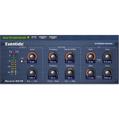 Eventide 2016 Stereo Room Native AAX64/AU/VST Software Download