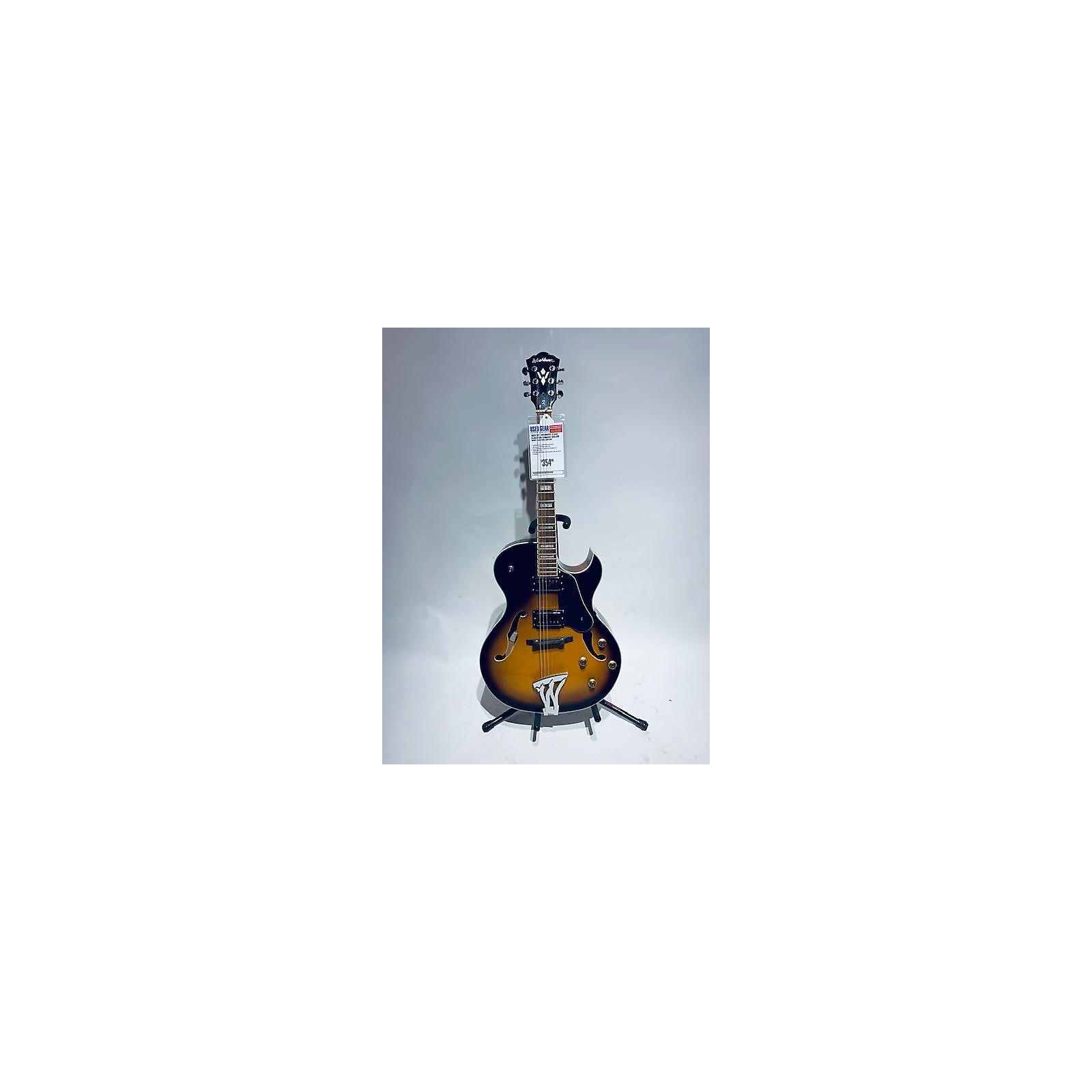 Washburn 2017 J3 Jazz Florentine Hollow Body Electric Guitar