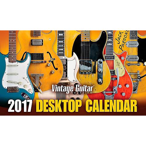 Hal Leonard 2017 Vintage Guitar Magazine Desktop Calendar