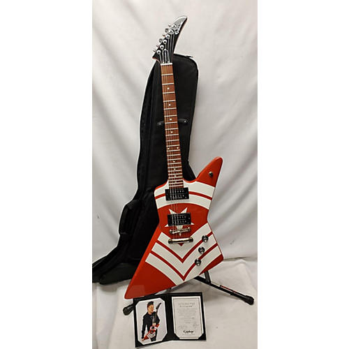 Epiphone 2018 Jason Hook Signature M-4 Explorer Solid Body Electric Guitar Red