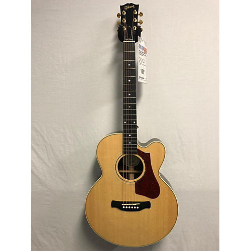 Gibson 2018 Parlor Rosewood AG Acoustic Electric Guitar Natural