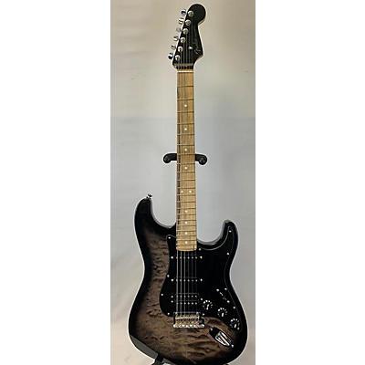 Fender 2019 American QMT Strat HSS Pale Moon Trans Black Solid Body Electric Guitar