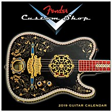 Hal Leonard 2019 Fender Custom Shop Mini Wall Calendar