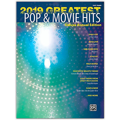 Alfred 2019 Greatest Pop & Movie Hits Easy Piano Book