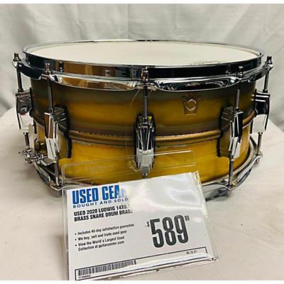 Ludwig 2020 14X6.5 Raw Brass Snare Drum