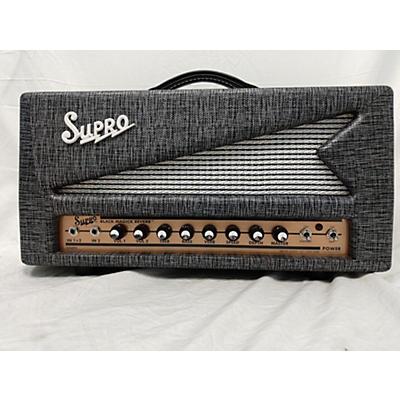 Supro 2020 1696RT BLACK MAGICK REVERB 25W AMP HEAD Tube Guitar Amp Head