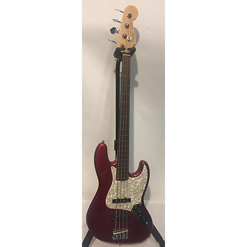 Fender 2020 Mod Shop American Pro Jazz Bass Electric Bass Guitar Candy Apple Red metallic