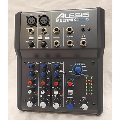 Alesis 2021 MultiMix 4 USB FX 4-Channel Unpowered Mixer