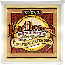 Ernie Ball 2047 Earthwood 80/20 Bronze Silk and Steel Extra Soft Acoustic Guitar Strings
