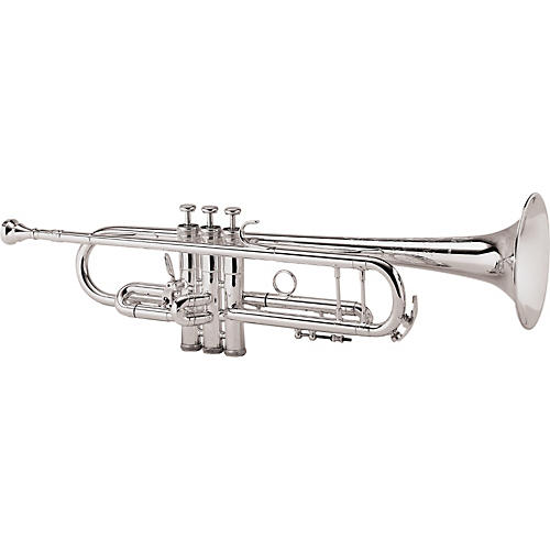 King 2055 Silver Flair Series Bb Trumpet 2055T Silver 1st Valve Thumb Trigger