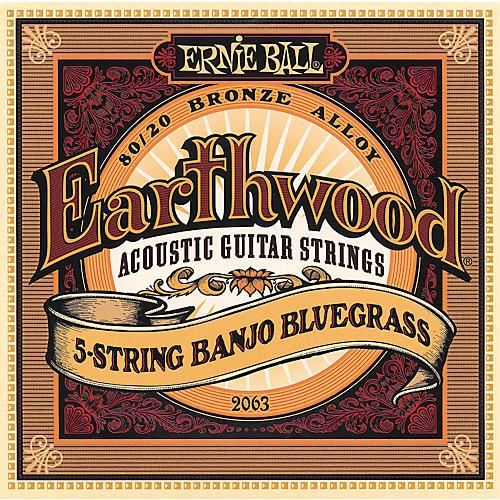 Ernie Ball 2063 Earthwood 80/20 Bronze 5-String Banjo Bluegrass Strings