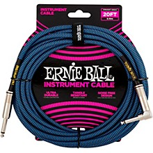 Ernie Ball 20ft Braided Straight Angle Instrument Cable