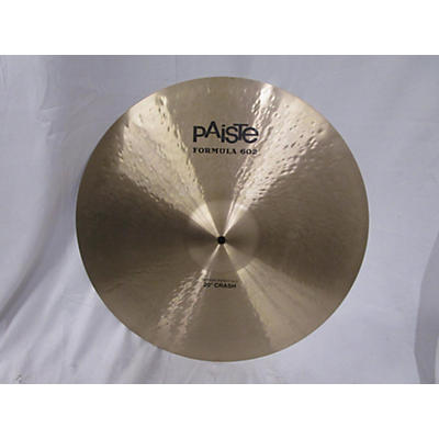 Paiste 20in Formula 602 Modern Dynamic Crash Cymbal