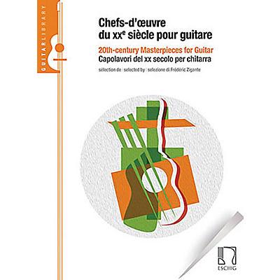 Max Eschig 20th Century Masterpieces for Guitar [Chefs-d'oeuvre du xxe seècle pour guitare] Max Eschig Softcover