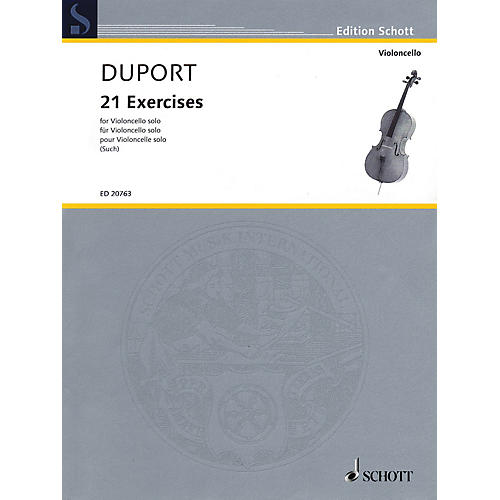Schott 21 Exercises (for Cello Solo) String Series Softcover