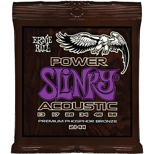 Ernie Ball 2144 Power Slinky Phosphor Bronze Acoustic Guitar Strings