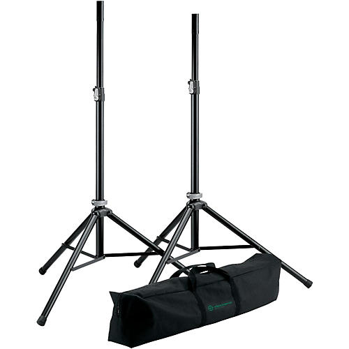 K&M 21449.000.55 Two Speakers Stands with Carry Bag