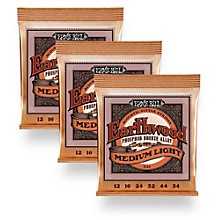 Ernie Ball 2146 Earthwood Phosphor Bronze Medium-Light Acoustic Guitar Strings 3-Pack