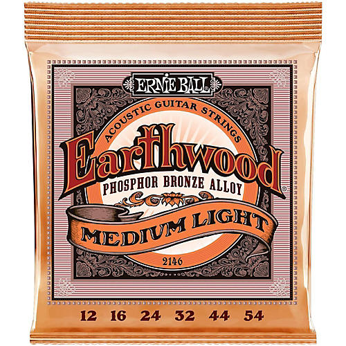 Ernie Ball 2146 Earthwood Phosphor Bronze Medium-Light Acoustic Guitar Strings