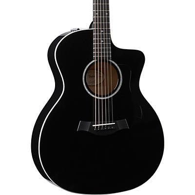 Taylor 214ce-BLK DLX Grand Auditorium Acoustic-Electric Guitar
