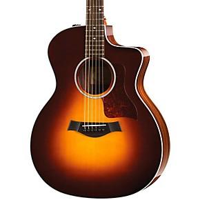 taylor 214ce dlx grand auditorium acoustic electric guitar sunburst musician 39 s friend. Black Bedroom Furniture Sets. Home Design Ideas