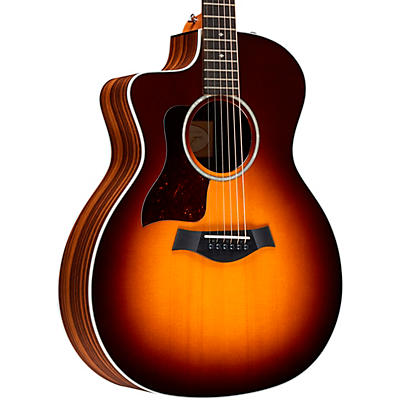 Taylor 214ce Deluxe Left-Handed Cutaway Grand Auditorium Acoustic-Electric Guitar
