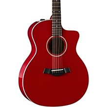 Taylor 214ce-Red DLX Grand Auditorium Acoustic-Electric Guitar