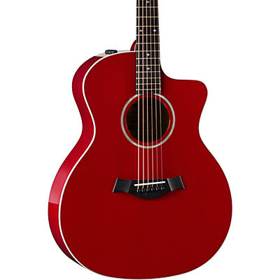 Taylor 214ce-Red DLX Grand Auditorium Acoustic-Electric Guitar