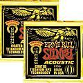 Ernie Ball 2156 Coated Slinky Acoustic Strings Medium Lite 2 Pack thumbnail