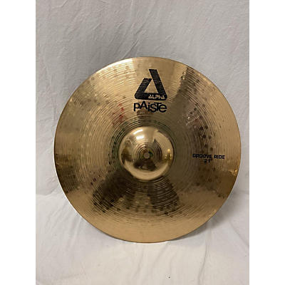 Paiste 21in Alpha Groove Ride Brilliant Cymbal