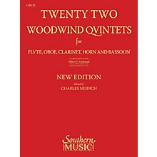 Southern 22 Woodwind Quintets - New Edition (Oboe Part) Southern Music Series Arranged by Albert Andraud