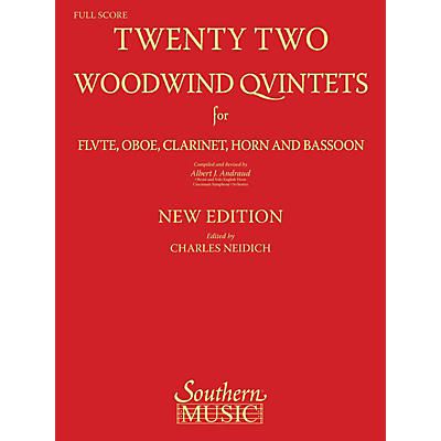 Southern 22 Woodwind Quintets - New Edition (Woodwind Quintet) Southern Music Series Softcover