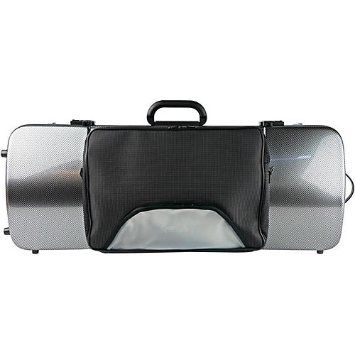 Bam 2202XL Hightech Large Adjustable Viola Case with Pocket Silver Carbon