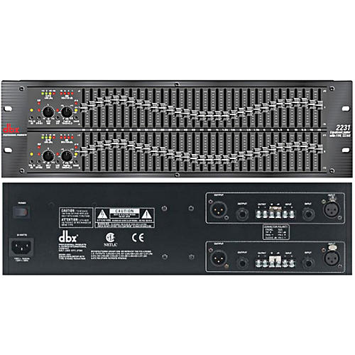 dbx 2231 Dual 31-Band Graphic Equalizer Restock