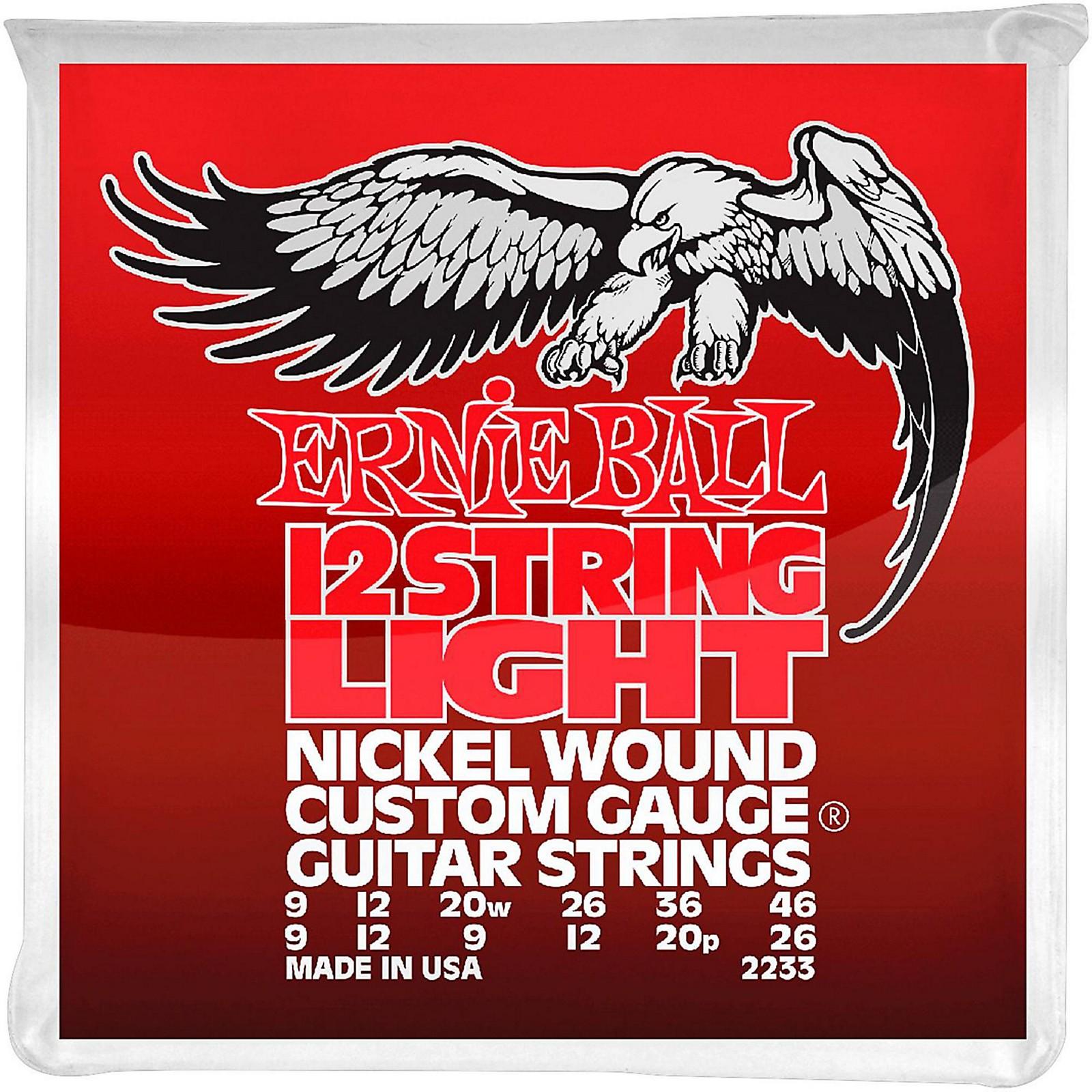 Ernie Ball 2233 Nickel 12-String Light Electric Guitar Strings